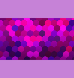 Brightly colored pink and blue mosaic scale vector