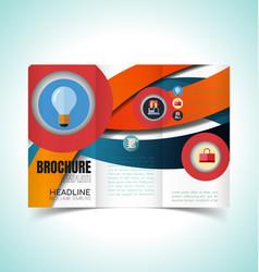 Brochure design template1 vector