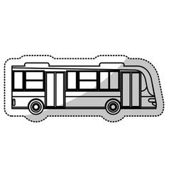 Bus transport urban service outline vector