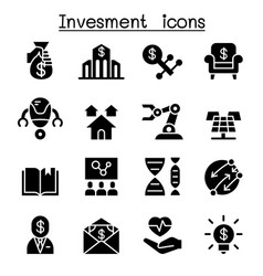 Business investment icon set vector