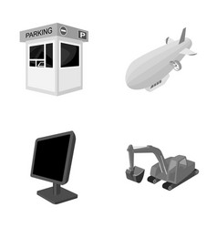 cars information television and other monochrome vector image