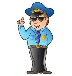 cartoon advising policeman vector image