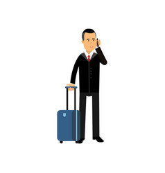 cartoon character self-confident businessman in vector image