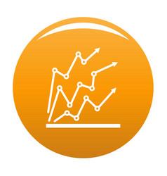 chart icon orange vector image