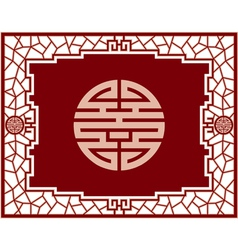 Chinese Screen Design vector image