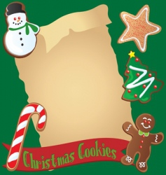 christmas cookie recipe or invitation vector image