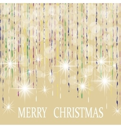 Christmas New Year s holiday card The lights on vector image vector image