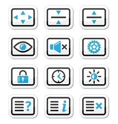 Computer tv monitor screen icons set vector image