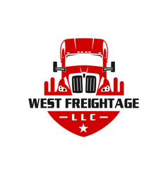 container truck shield design vector image