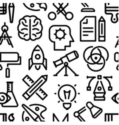 creativity pattern linear icons vector image