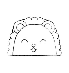 cute sketch draw armadillo face cartoon vector image