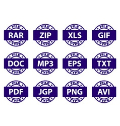 Document icon stamps vector