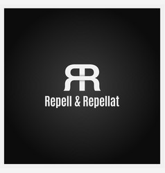 Double letter r logo icon with two white r on vector