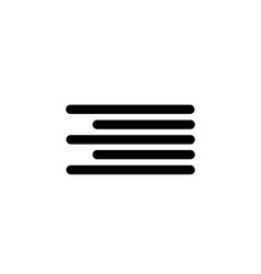 editorial right alignment icon element of vector image