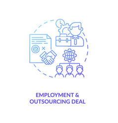 Employment and outsourcing deal concept icon vector
