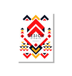 ethno card template abstract design ethnic tribal vector image