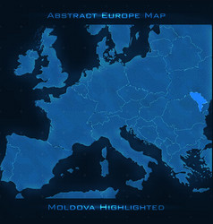 europe abstract map moldova vector image
