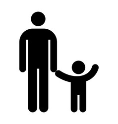 Father and kid symbol vector