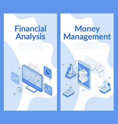financial analysis money management concept vector image