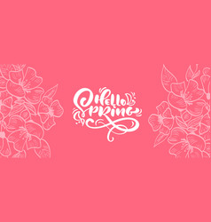 floral frame for greeting card with text vector image