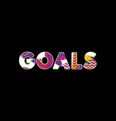 goals concept word art vector image