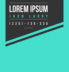 Graphic business template name card style vector