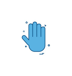 hand icon design vector image