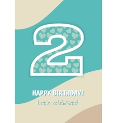Happy Birthday 2 Years vector image