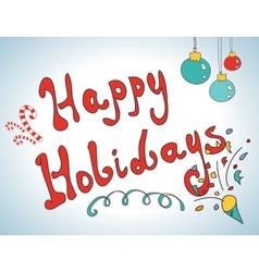 Happy holidays postcard design vector