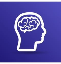 Head brain icon think design over vector