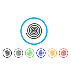 Hypnosis spiral rounded icon vector