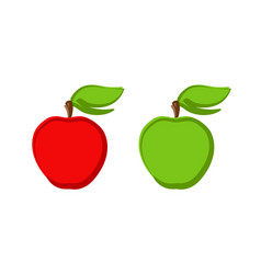 icon set ripe apples isolated on white vector image