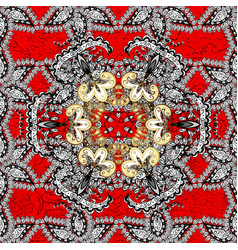 islamic design golden textile print floral tiles vector image