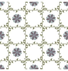Leaf and flower geometric seamless pattern vector image