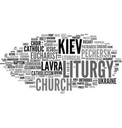 Liturgy word cloud concept vector