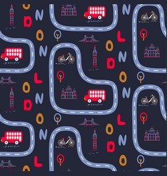 London city outdoor baby seamless pattern vector