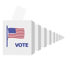 Many ballot boxes vector