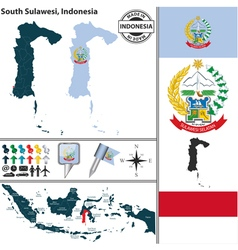 Map of South Sulawesi vector