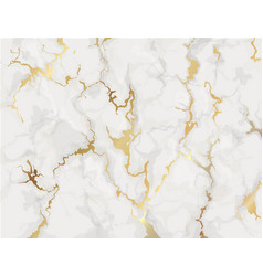 marble with golden texture background vector image