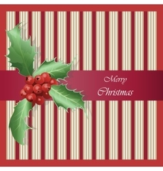 Merry Christmas Happy New Year card vector image