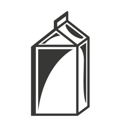 milk box isolated icon design vector image