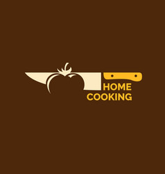 modern minimalistic logo of home cooking vector image
