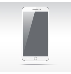 Modern touchscreen smartphone isolated on light vector image