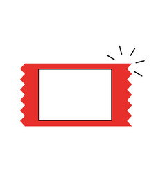 Movie ticket isolated icon vector