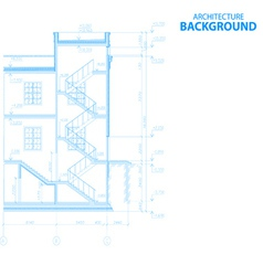 New architecture background vector image