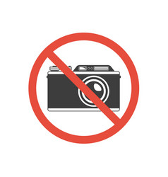 no photography sign vector image