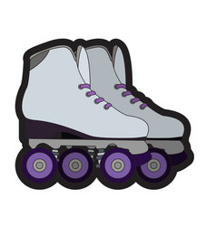 Pair of roller skates vector