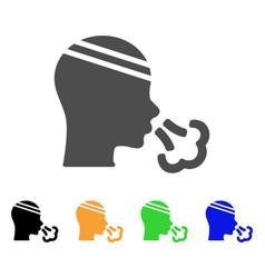 Patient sneeze flat icon vector