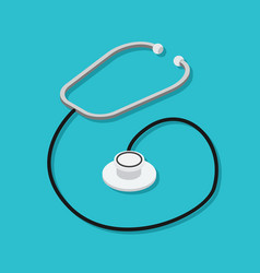 phonendoscope or stethoscope medical instrument vector image