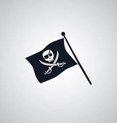 Pirate flag flat icon theme vector